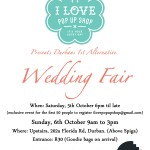 Durban Alternative Wedding Fair by I Love Pop Up Shop