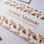 Business Card Designs Featuring an Illustrated Fox & Hare