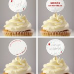 Free Printable Christmas Cupcake Toppers & Gift Tags