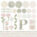 Recent Work: A Custom Protea-Themed Scrapbooking Pack