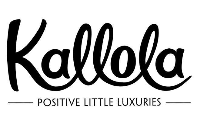 Hand lettered logo design for Kallola