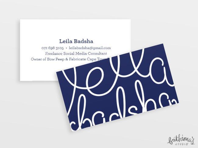 Leila Badsha Logo - business cards