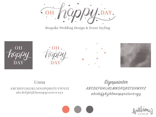 logo design and branding for Oh Happy Day