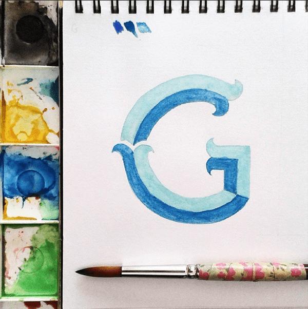 Fancy Feb Letters - a month long Instagram hand lettering project