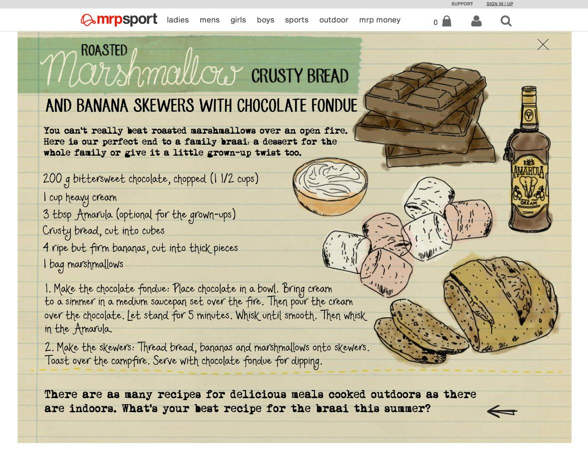 Illustrated recipes for Mr Price Sport