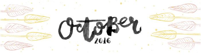 October 2016 Free Printable Calendar Planner