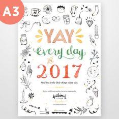 2017 A3 Calendar Planner
