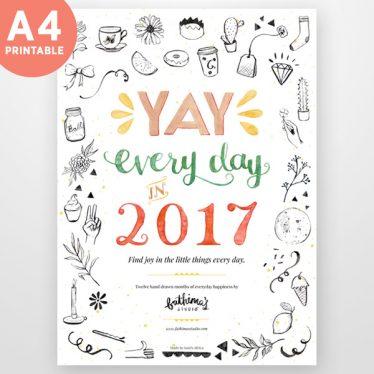 2017 A4 Printable Calendar Planner