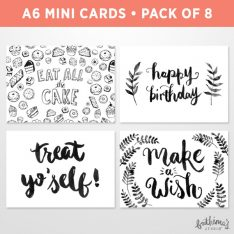 Mini Birthday Cards