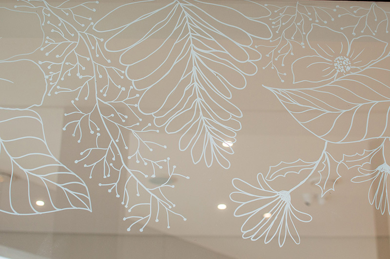 Aliverti Store Window Mural Illustration