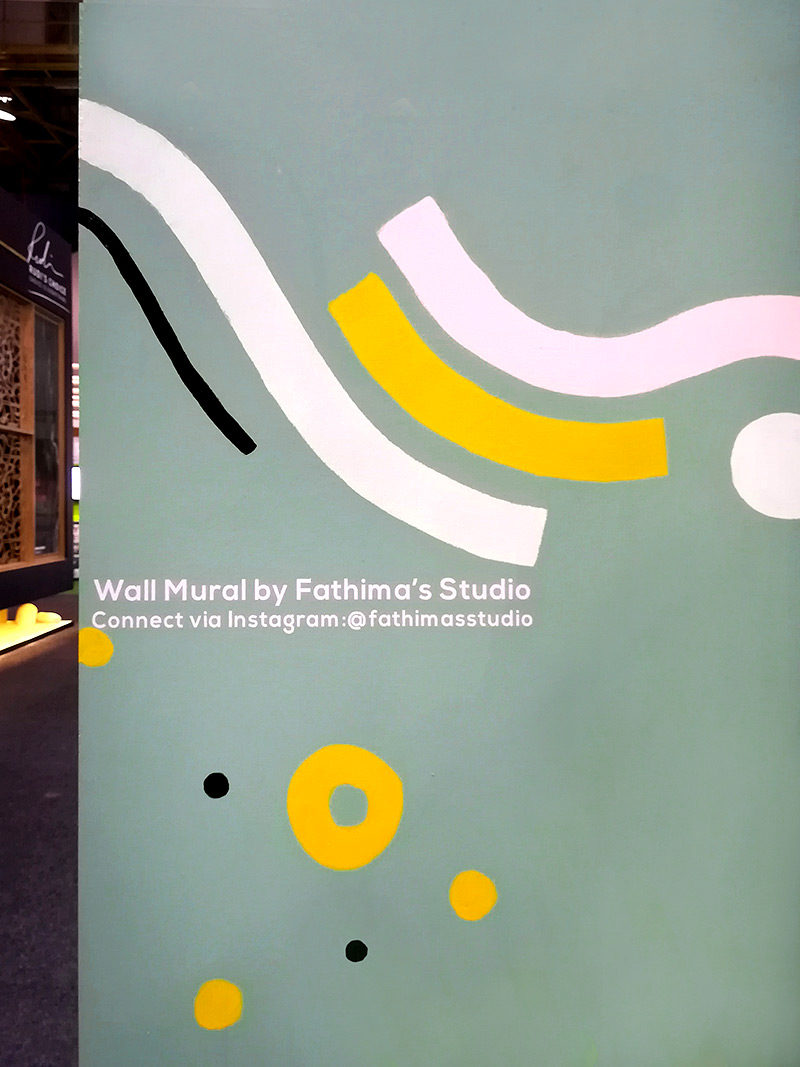 Fathima's Studio ECR House & Garden Show mural